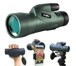 Gosky 12x55 Monocular Telescope and Quick Smartphone Holder