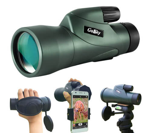 Gosky 12x55 High Definition Monocular Telescope and Quick Smartphone Holder