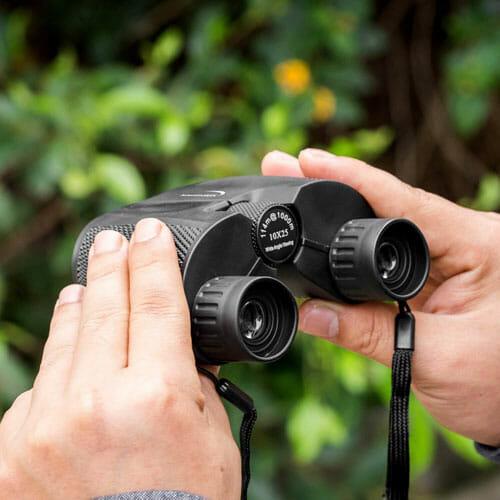 Holding the Binoculars