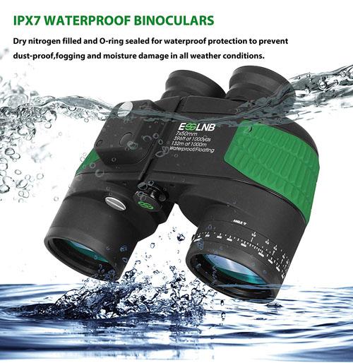 ESSLNB Night Vision Compass Rangefinder 7x50 IPX7 Waterproof Marine Binoculars