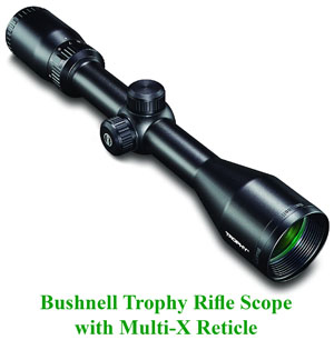 Bushnell Trophy Rifle Scope with Multi-X Reticle
