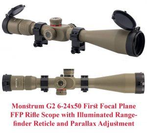 Monstrum G2 6-24x50 First Focal Plane FFP Rifle Scope