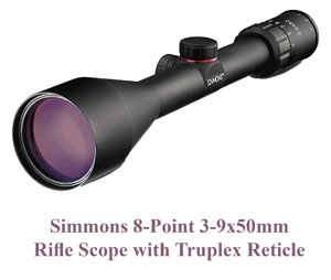 Simmons 8-Point Rifle Scope with Truplex Reticle