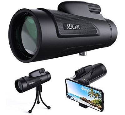 AUCEE Monocular Telescope for Adults with Smartphone Adapter Tripod