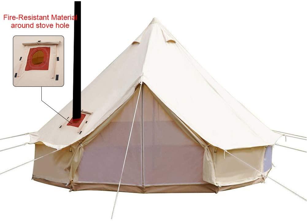 PlayDo 4-Season Waterproof Cotton Canvas Bell Tent