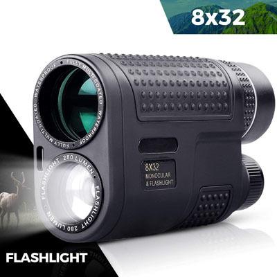 QUNSE Monocular, Flashlight Night Vision Monocular