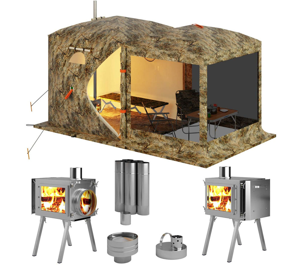 Russian Bear Tent with Stove Jack
