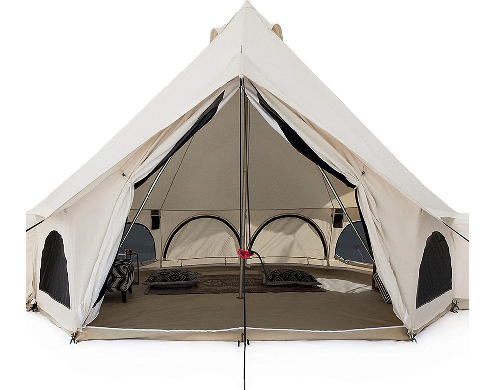 White Duck Premium Canvas Tent with Stove Jack