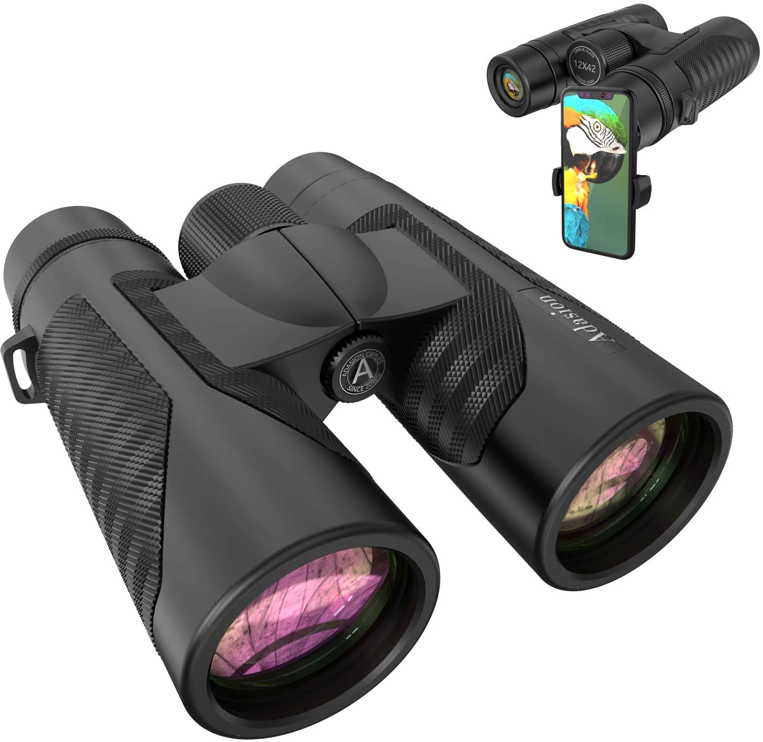 Adasion Binoculars with New Smartphone Photograph Adapter