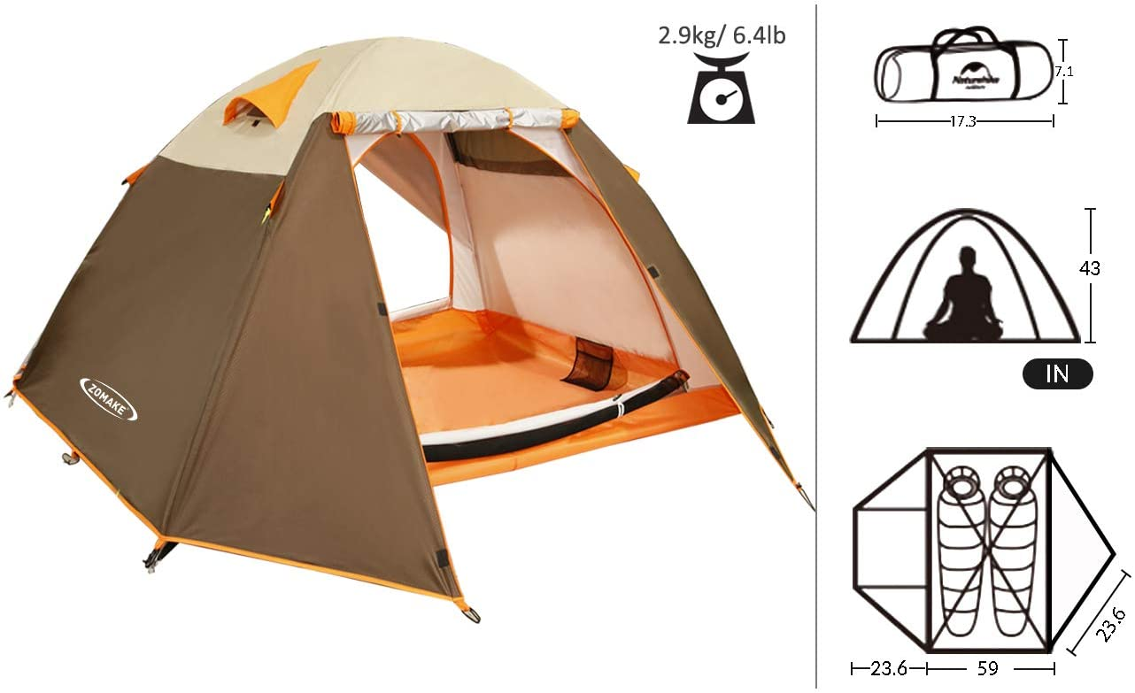Zomake Lightweight Backpacking Tent